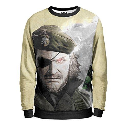 BIG BOSS - Metal Gear Solid Sweatshirt Man - Felpa Uomo - Snake Eater T-Shirt, Kojima Konami Playstation Console
