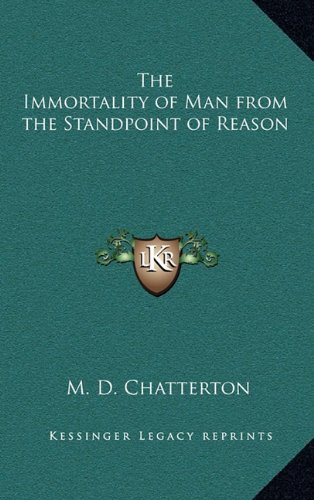The Immortality of Man from the Standpoint of Reason