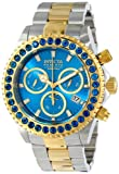 Invicta Pro Diver Unisex Quartz Watch with Turquoise Dial Chronograph display on Multicolour Gold Plated Bracelet 14448