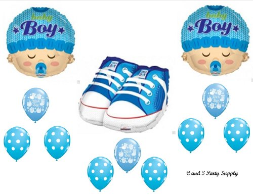 It'S A Boy Sneakers Face Baby Shower Balloons Decorations Supplies front-960504