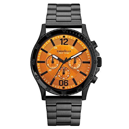 Caravelle New York 45A108 - Reloj  de Cuarzo para Hombre, correa de Acero inoxidable color Negro