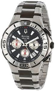 (精品)Bulova 宝路华98B013 Marine Star海洋之星潜水员潜水计时男表 $198.99