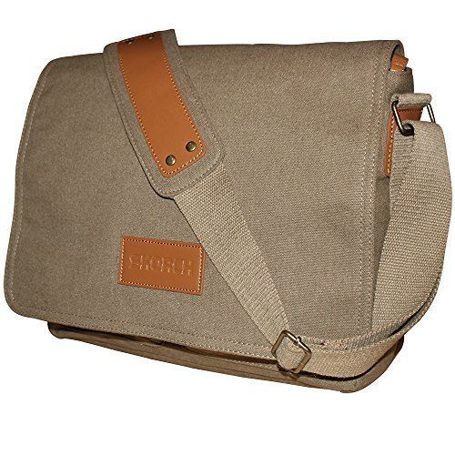 SKORCH Compact Canvas Messenger Bags and Commuter Bags for Men and Women,