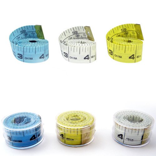 1 New 60″ 150cm Soft Fabric Cloth Tape Measure Ruler Dual Sided SAE Metric Diet