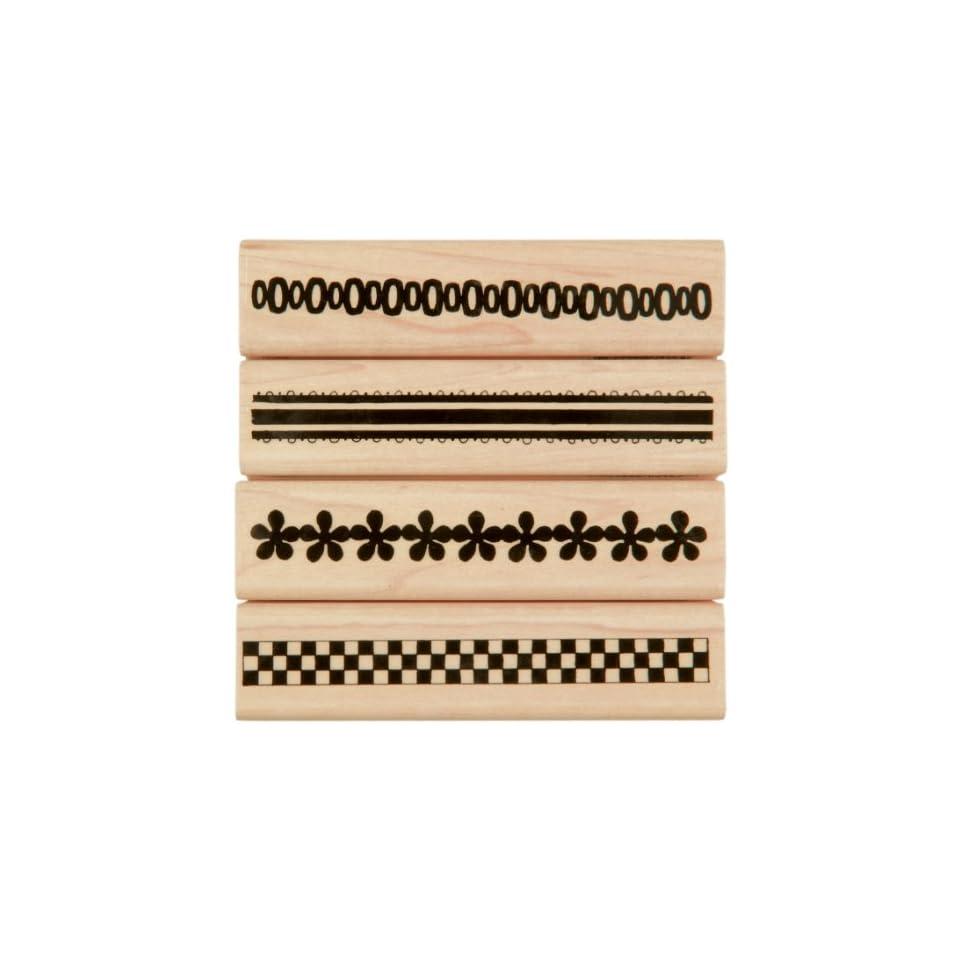 Penny Black Rubber Stamp Set 4X4 Ribbons 1 Arts, Crafts