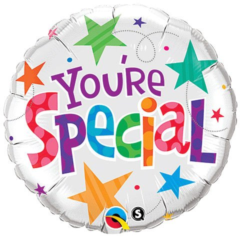 PIONEER BALLOON COMPANY 33341 You're Special Stars Foil Packaged Balloon, 18""