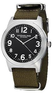 Stuhrling Original Men's 409.SET.03 Tuskegee Contrail Swiss Quartz Green Watch with Additional Strap