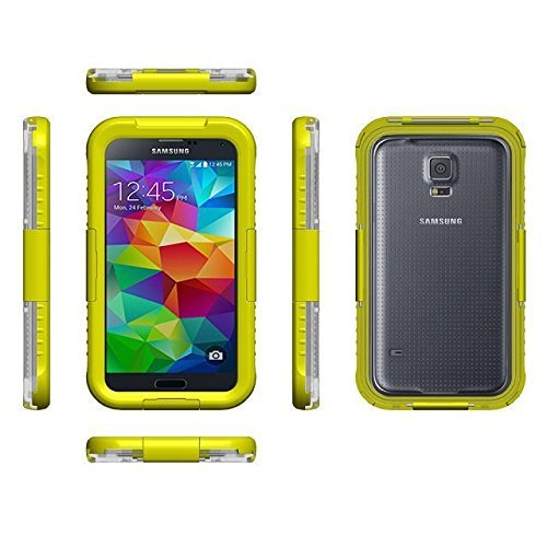 Vandot Accessories Set Hybrid Rubber Edge Protectors Ultra-Thin Waterproof Case Dustproof Shockproof Case Samsung Galaxy S5 G900 Waterproof Protective Case Cover Shell Silicone Transparent Bumper Cover Hard Hard Back Shell Case Case Protection Thin Protec front-521121