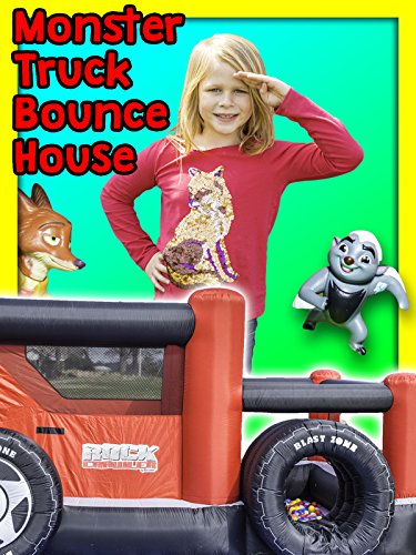 Assistant Monster Truck Bounce House Surprise with Mickey Mouse and Lion Guard