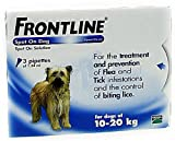 Frontline Spot On Dog 3 Pipettes Between 10 and 20 kg