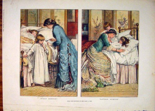 Gow Child Children Medicine Aunt Fine Art 1882 Print