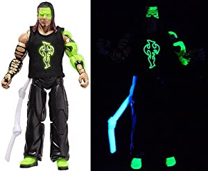 """GLOW PAINT"" JEFF HARDY - RINGSIDE COLLECTIBLES EXCLUSIVE JAKKS PACIFIC TNA TOY WRESTLING ACTION FIGURE"