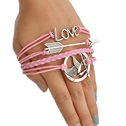Aaishwarya Mockingjay with Love Wrap Bracelet For Men & Boys