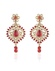 I Jewels Tradtional Gold Plated Elegantly Handcrafted Pair Of Fashion Earrings For Women. - B00N7IN7RU