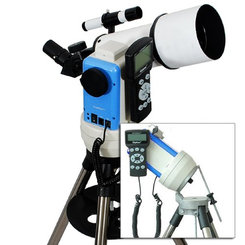 Twinstar White 80Mm Ioptron Computerized Gps Equatorial Refractor Telescope