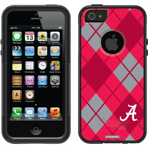Great Price Alabama - Argyle design on a Black OtterBox® Commuter Series® Case for iPhone 5s / 5