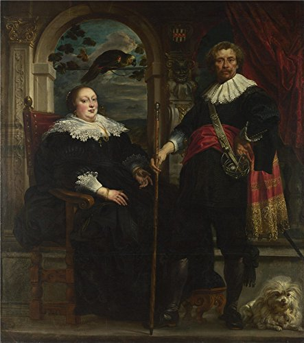 Oil Painting 'Jacob Jordaens Portrait Of Govaert Van Surpele And His Wife' 12 x 14 inch / 30 x 34 cm , on High Definition HD canvas prints is for Gifts And Foyer, Home Office And Study Room Decoration (Gas Station Lightning compare prices)