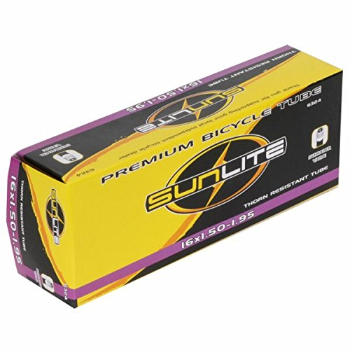 Sunlite Bicycle Thorn Resistant Tube 16 x 1.50-1.95 SCHRADER Valve
