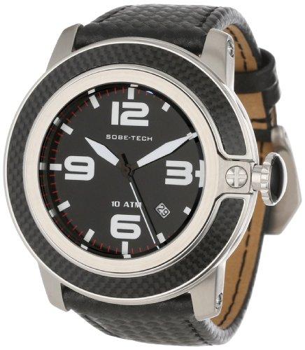 Glam Rock GR33009 - Reloj analógico de cuarzo unisex, correa de cuero color negro