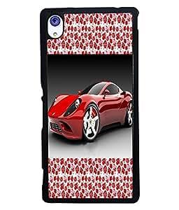Printvisa 2D Printed Car Designer back case cover for Sony Xperia M4 Aqua - D4176