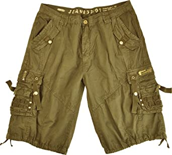 Mens Cargo Pocket Shorts Military-Style Khaki Color #12211s-kh Size:30