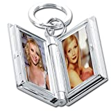 Natico Key Ring with Double Photo Frame, Silver (60-985)