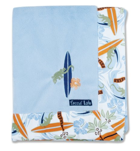 Trend Lab Surf's Up Framed Receiving Blanket, Blue