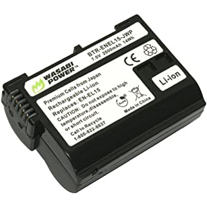 Wasabi Power Battery for Nikon EN-EL15 and Nikon 1 V1, D600, D800, D800E, D7000, D7100 (Decoded Chip)