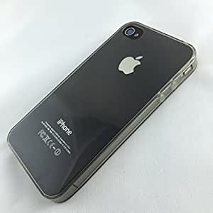 Phoenix Transparent Smoke Grey Glossy Silicone Cover frame iphone 4 4s