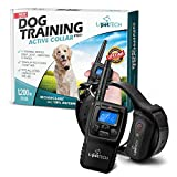 PetTech Remote Controlled Dog training Collar, Rechargeable and Waterproof, All Size Dogs(10Lbs - 100Lbs), 400 Yard Range