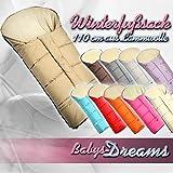 Los beb�s-Dreams Winterfu�sack MUMIE 90 cm o de 110 cm 11 coloures para cochecito de lana de cordero bolsa de lana de invierno saco de silla negro