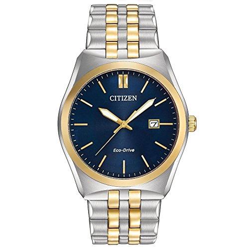 Citizen Eco-Drive Men's BM7334-58L Corso Two-Tone Watch (Citizen Ecodrive Blue Dial compare prices)