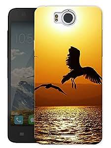 "Eagle Bird Flying High Printed Designer Mobile Back Cover For ""Google Infocus M530"" By Humor Gang (3D, Matte Finish, Premium Quality, Protective Snap On Slim Hard Phone Case, Multi Color)"