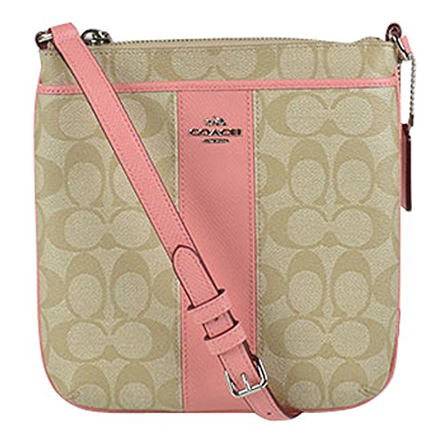 Coach Signature Peyton North South Swingpack in Pink