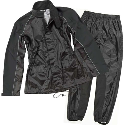 Joe Rocket RS-2 Women's 2-Piece Street Motorcycle Rain Suits - Black/Black / Small (Rain Suit Moto compare prices)