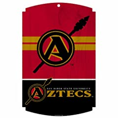 Buy NCAA San Diego State Aztecs 11-by-17 Wood Sign Traditional Look by WinCraft