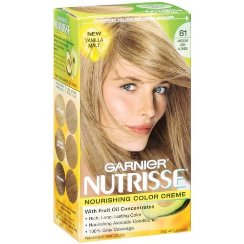 Amazoncom  Garnier Nutrisse Haircolor 81 Medium Ash Blonde Vanilla Malt
