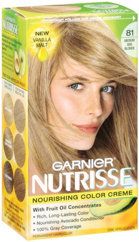 Garnier Nutrisse Haircolor, 81 Medium Ash Blonde Vanilla Mint
