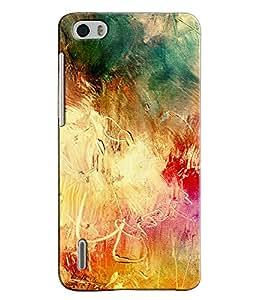 EU4IA MULTICOLOR MATTE FINISH 3D MATTE FINISH Back Cover Case For Huawei Hono...