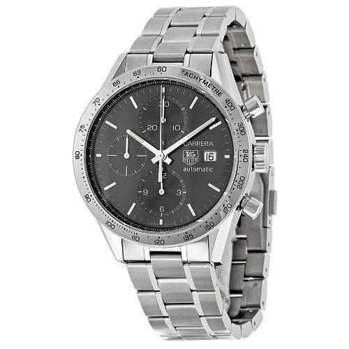 Tag Heuer Carrera Chronograph Slate Grey Dial Steel Mens Watch CV201AA.BA0794