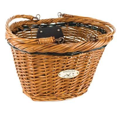 Nantucket Miacomet Oval Front Handlebar Bike Basket w/Quick Release