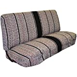 Full Size Truck Bench Seat Covers - Fits Chevrolet, Dodge, Ford Trucks (Black)