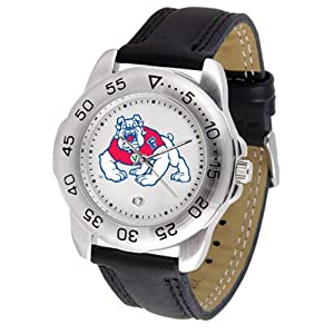 Fresno State Bulldogs NCAA Sport Mens Watch (Leather Band) by SunTime