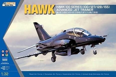 Kinetic K3206 Hawk 100 Series (100/127/128/155) Advanced Jet Trainer (RAF, Canadian Airforce, Australian Airforce) 1:32 Plastic Kit Maquette