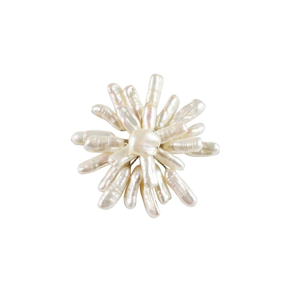 Jane Stone Pearl Brooch Pin Flower Pearl Mother Present Bloom Jewelry Jewelry