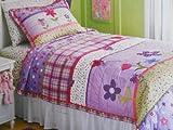 - Purple Happy Flower Quilt Set - Twin