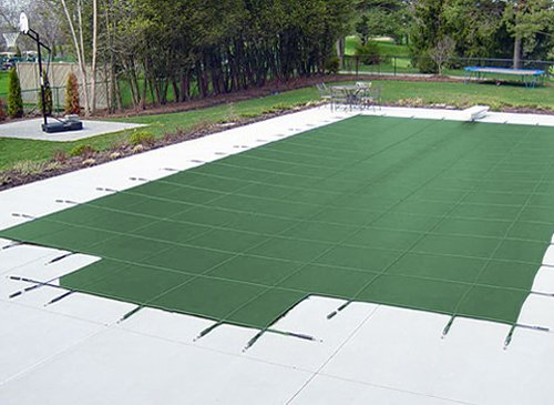 Lucas Holt 20 X40 Rectangle Green Mesh In Ground Swimming Pool Safety Cover W 4 X8 Center End Step