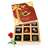 Lovable Choco Treat With Red Rose - Chocholik Luxury Chocolates