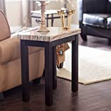 Carmine Faux Marble Chair Side Table