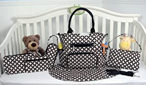 SoHo Collection, Grand Central 7 pieces Diaper Bag set *Limited time offer !*